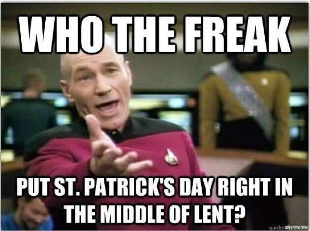 Star Trek St. Patrick's Day meme