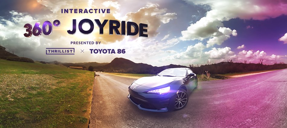 Get behind the wheel of the Toyota 86 in our interactive 360 video