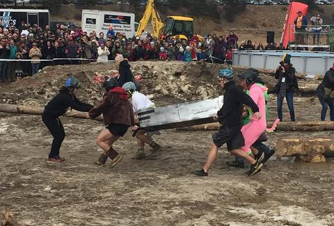coffin racing at frozen dead guy days festival