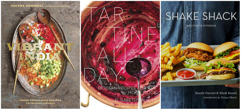 shake shack vibrant india tartine all day cookbooks