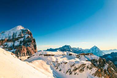 Snow-capped Alpine Slopes