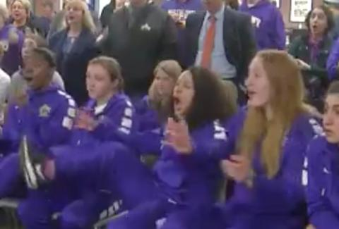 University of Albany selection show reaction