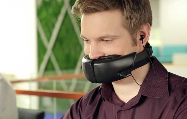 This Facemask Adds Privacy to Phone Calls, and Makes You Look Stupid
