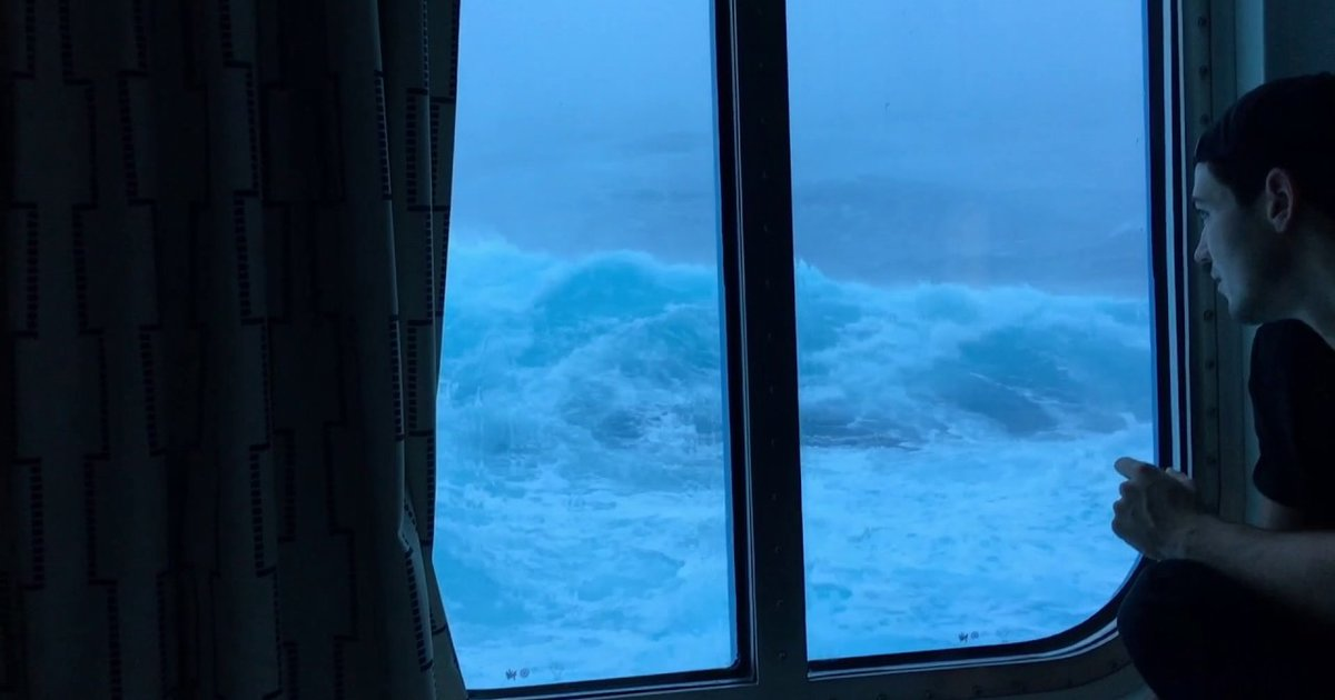 Video Watching Waves Hit Cruise Ship From Cabin Thrillist