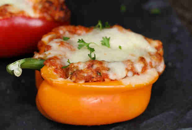 Chicken Parm Stuffed Peppers Are Layers Upon Layers of Delicious