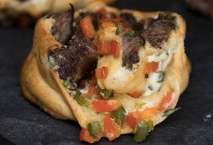 Take a Philly Cheesesteak on the Go With These Meaty Pinwheels