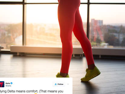 Delta Tweets About United Legging Controversy