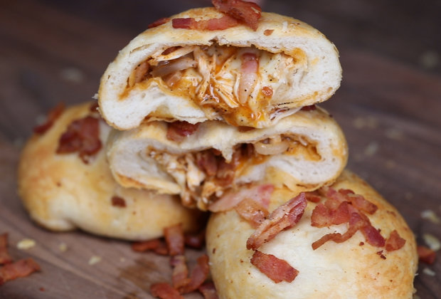 Bacon Buffalo Chicken Biscuits Are the Ultimate Party Food