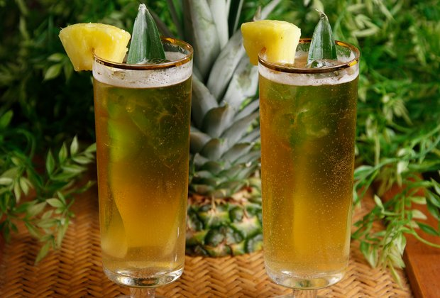Transport Yourself to a Tropical Island With a Pineapple Shrub Beertail