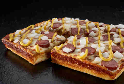 Little Caesars Coney Dog Pizza
