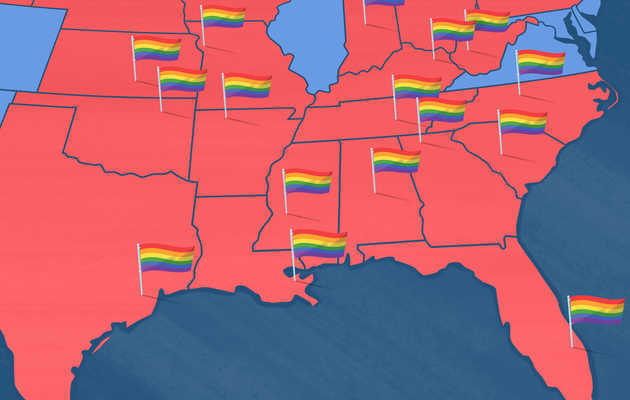 The Most LGBTQ-Friendly City in Every Red State in America