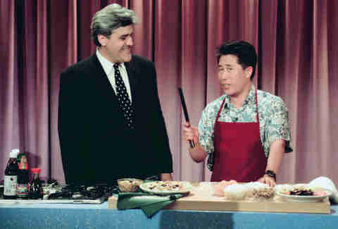 Martin Yan and Jay Leno