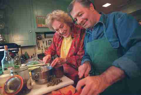 Jacques Pepin and Julia Child