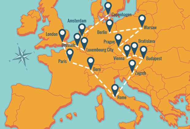 How to Hit Europe's Greatest Cities for Under $500 in One Trip