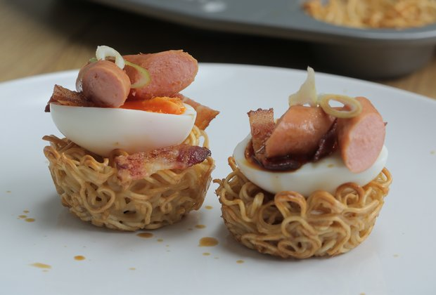 These Egg Noodle Baskets Are the Best Thing You Can Make With Instant Ramen