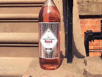 forty ounce rose bottle