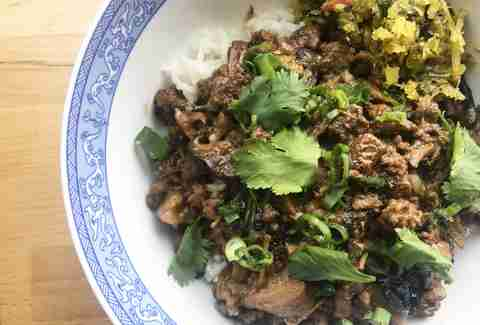 minced pork over rice