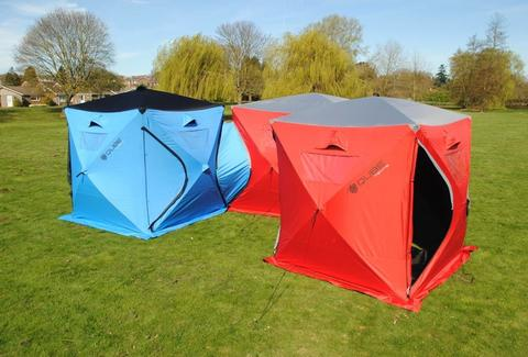 interconnected cube tents