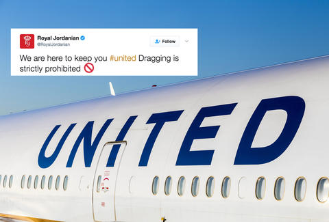 United Trolled on Twitter