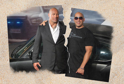 the rock vin diesel feud