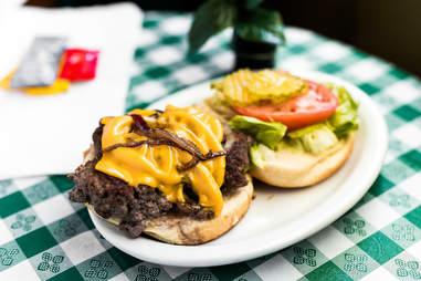 h&r sweet shop burger