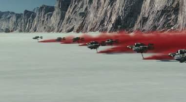 star wars last jedi trailer speeders red dust