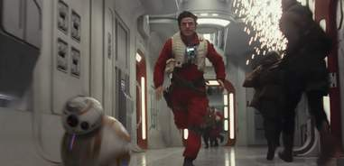 star wars last jedi trailer poe bb8