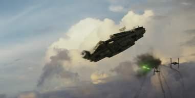 star wars last jedi trailer millennium falcon