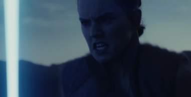star wars last jedi trailer rey lightsaber