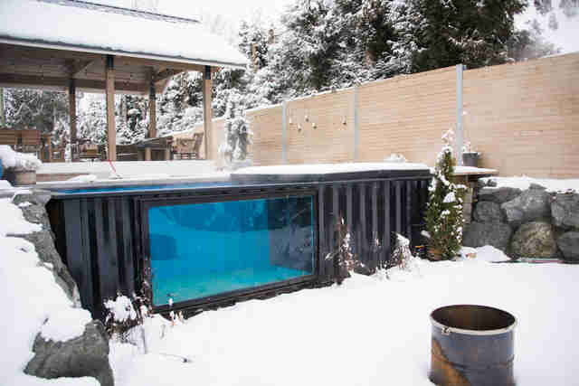 Modpools Are Heated Shipping Container Pools Can Be Used
