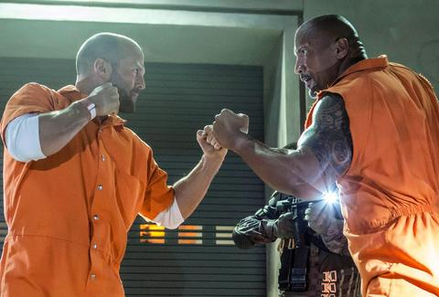 Fate of the Furious Jason Statham The Rock
