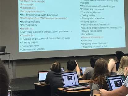 college professor shaming students