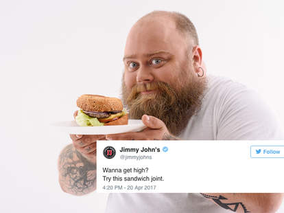 Fast food 4/20 Tweets