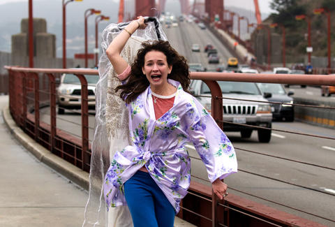 girlboss golden gate bridge scene