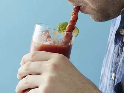 Bacon Straw Bloody Mary