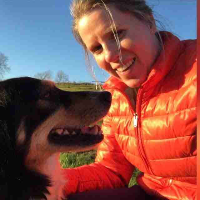Ciara Clarke with her dog Lucky