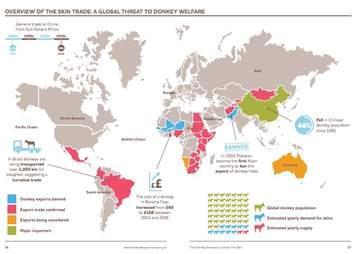 donkey skin trade map