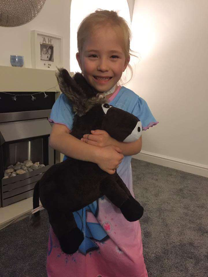 Girl who benefitted from a therapy donkey