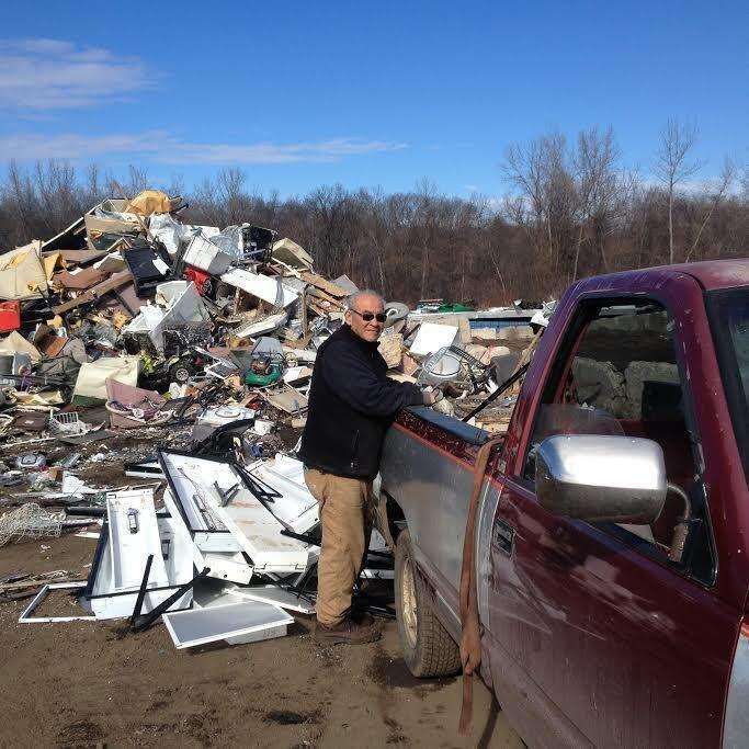 Willie Ortiz collecting scrap metal