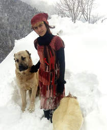 turkish girl with dog