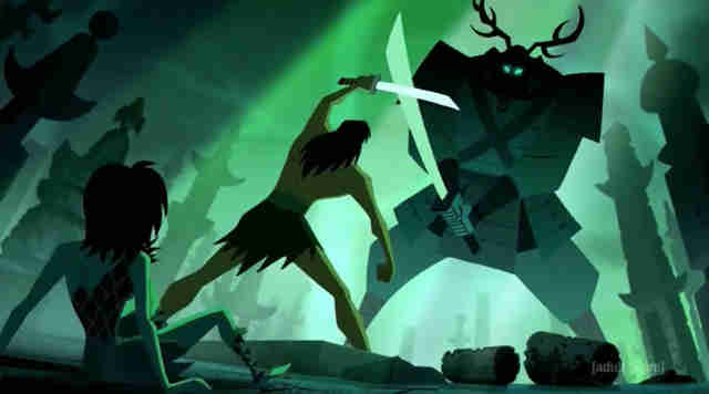 samurai jack seppuku green warrior