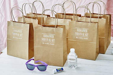 DIY wedding hangover kits