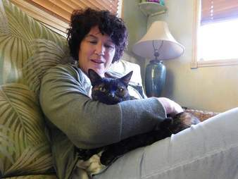 Lost cat reunited with her owner