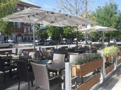Outdoor seating.