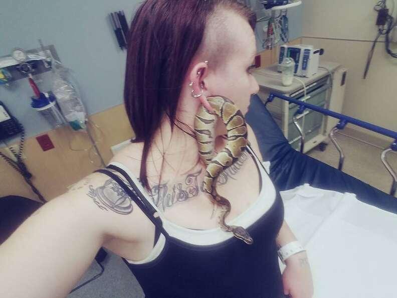 snake in earlobe