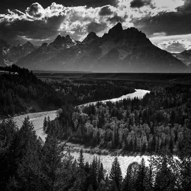 8860-In Tribute to Ansel Adams, Snake River, Grand Teton National Park, Wyoming, USA 2014 © Laurent Baheux