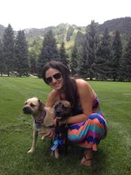 Woman with her dogs, missing since burglary