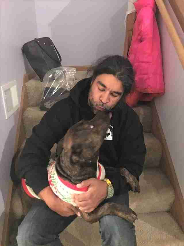 Dog Who Got Shot Can't Stop Kissing The Man Who Saved Him