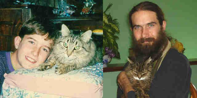 31 Cats Recreate Photos From Their Kittenhood