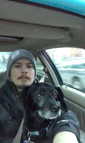 guy rescues dog while delivering pizzas